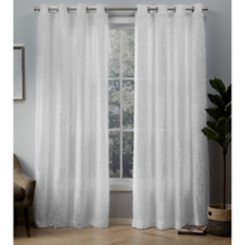White Eyelash Curtain Panel Set, 108 in.