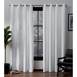 Winter White Blackout Curtain Panel Set 96 In