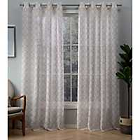 Blush Helena Sheer Curtain Panel Set, 96 in.