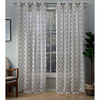 Natural Helena Sheer Curtain Panel Set, 84 in.