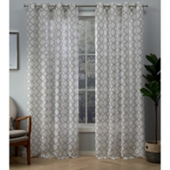 Natural Helena Sheer Curtain Panel Set, 96 in.