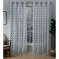 Indigo Helena Sheer Curtain Panel Set, 84 in.