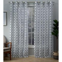 Indigo Helena Sheer Curtain Panel Set, 96 in.