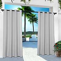 Gray Cabana Outdoor Curtain Panel Set, 120 in.