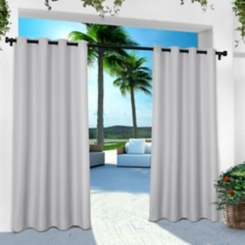 Gray Cabana Outdoor Curtain Panel Set, 120 in.