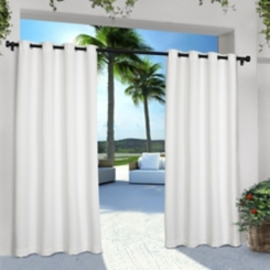 White Cabana Outdoor Curtain Panel Set, 120 in.