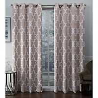 Blush Ironwork Woven Curtain Panel Set, 96 in.