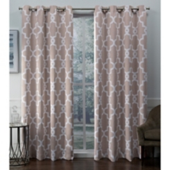 Blush Ironwork Woven Curtain Panel Set, 96 in.