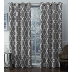 Silver Ironwork Woven Curtain Panel Set, 84 in.