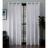 White Kilberry Blackout Curtain Panel Set, 108 in.
