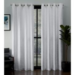 White Kilberry Blackout Curtain Panel Set, 108 in.