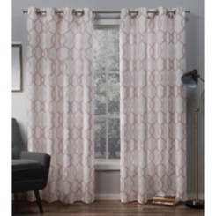 Blush Geometric Kochi Curtain Panel Set, 96 in.