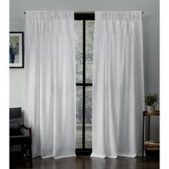 Winter Pinch Pleat Loha Curtain Panel Set, 96 in.