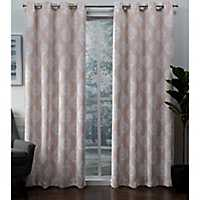 Blush Medallion Blackout Curtain Panel Set, 96 in.