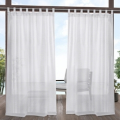 White Outdoor Miami Curtain Panel Set, 84 in.
