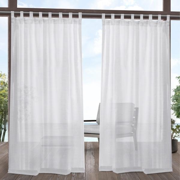White Outdoor Miami Curtain Panel Set