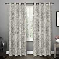 Oakdale Gray Sheer Curtain Panel Set, 108 in.