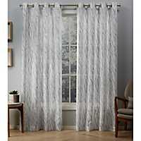 Oakdale Silver Sheer Curtain Panel Set, 96 in.