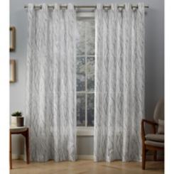 Oakdale Silver Sheer Curtain Panel Set, 108 in.