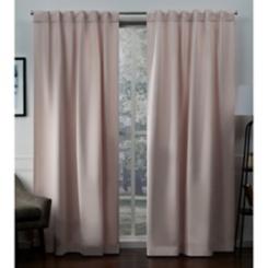 Blush Blackout Sateen Curtain Panel Set, 96 in.