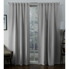 Silver Blackout Sateen Curtain Panel Set, 96 in.