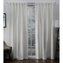 Vanilla Blackout Sateen Curtain Panel Set, 96 in.