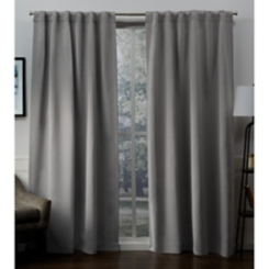 Veridian Gray Sateen Curtain Panel Set, 96 in.