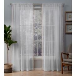 Blush Tassels Sheer Curtain Panel Set, 108 in.