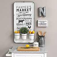 Farmer's Market Wall Organizer