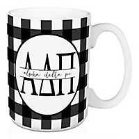 Alpha Delta Pi Buffalo Check Mug