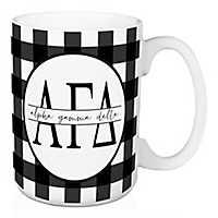 Alpha Gamma Delta Buffalo Check Mug