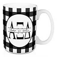 Alpha Xi Delta Buffalo Check Mug