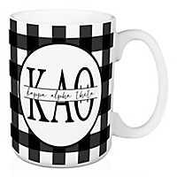 Kappa Alpha Theta Buffalo Check Mug