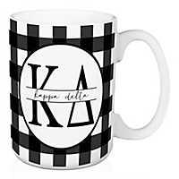 Kappa Delta Buffalo Check Mug
