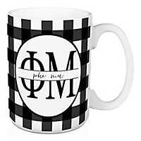 Phi Mu Buffalo Check Mug