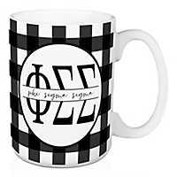 Phi Sigma Sigma Buffalo Check Mug