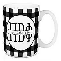 Pi Beta Phi Buffalo Check Mug