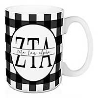 Zeta Tau Alpha Buffalo Check Mug