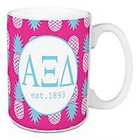Alpha Xi Delta Tropical Pineapple Mug