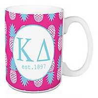 Kappa Delta Tropical Pineapple Mug