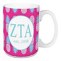Zeta Tau Alpha Tropical Pineapple Mug
