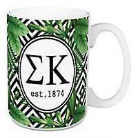Sigma Kappa Tropical Palm Mug