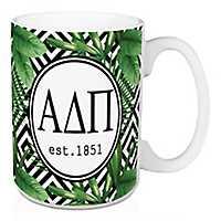 Alpha Delta Pi Tropical Palm Mug