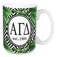 Alpha Gamma Delta Tropical Palm Mug
