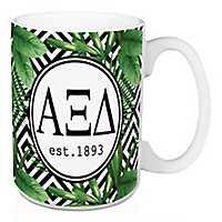 Alpha Xi Delta Tropical Palm Mug