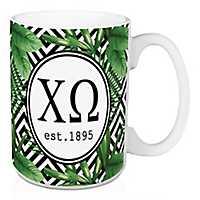 Chi Omega Tropical Palm Mug