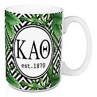 Kappa Alpha Theta Tropical Palm Mug