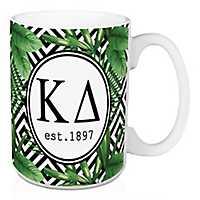 Kappa Delta Tropical Palm Mug