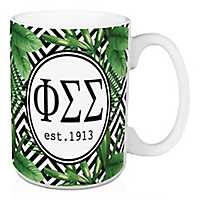 Phi Sigma Sigma Tropical Palm Mug