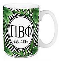 Pi Beta Phi Tropical Palm Mug